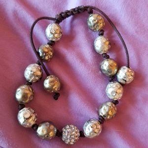 Gold & Silver Shamballa Bracelet